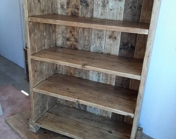 Large handmade bookcase shelves kitchen larder storage