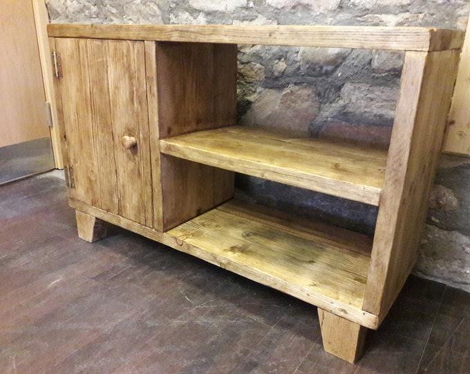 Handmade media TV unit hall storage side board cupboard reclaimed wood