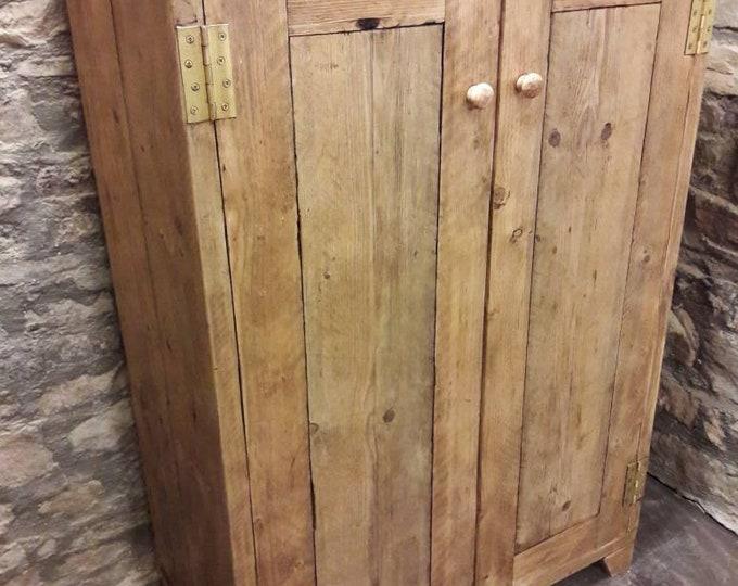 Linen cupboard Amoire kitchen storage wood shelving wardrobe