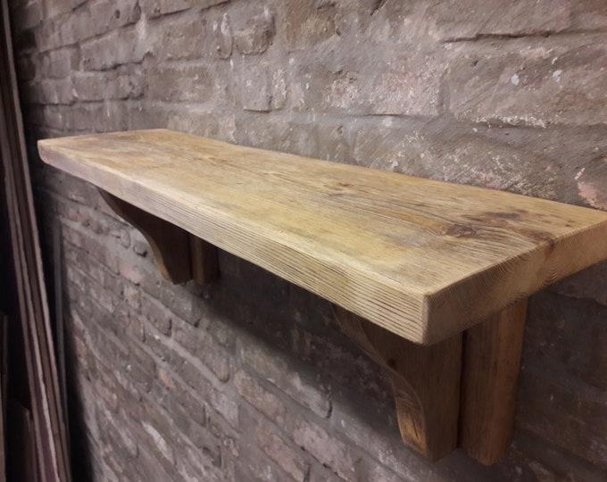 Shelves scaffold board shelf rustic industrial reclaimed wood