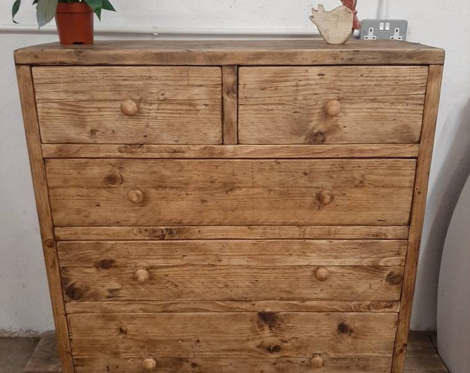 Handmade chest of drawers reclaimed wood rustic storage