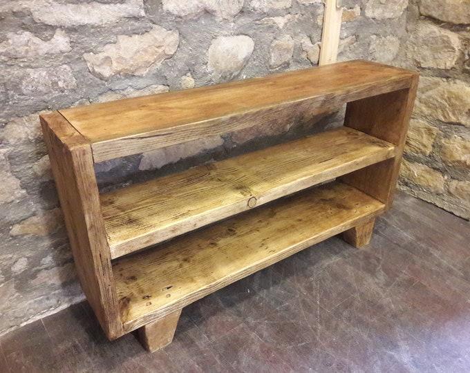 Handmade shelves shelving unit bookcase storage side table hall unit