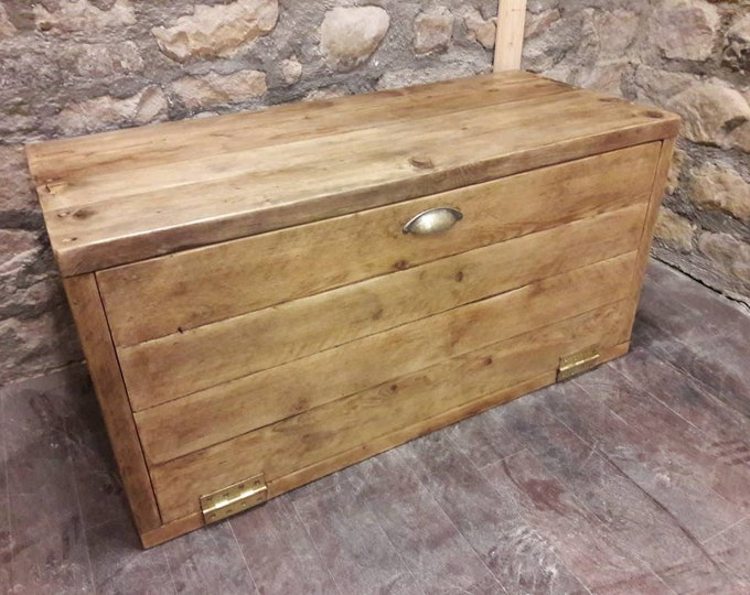 Handmade hallway storage unit shoe storage media unit reclaimed wood
