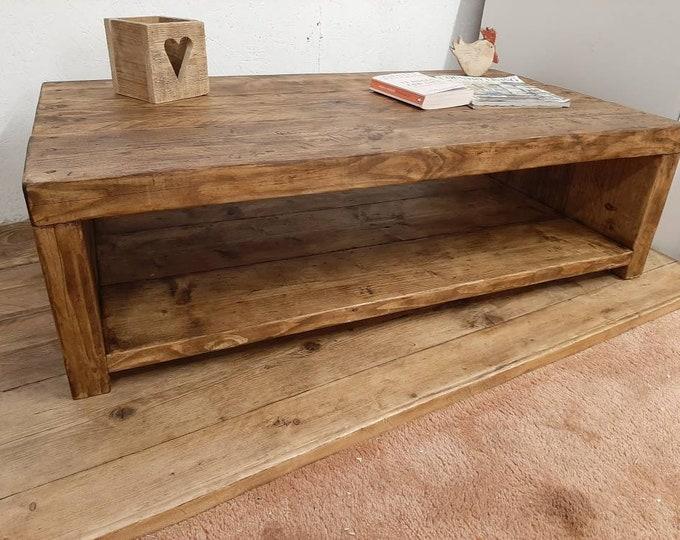 Handmade coffee table rustic reclaimed wood