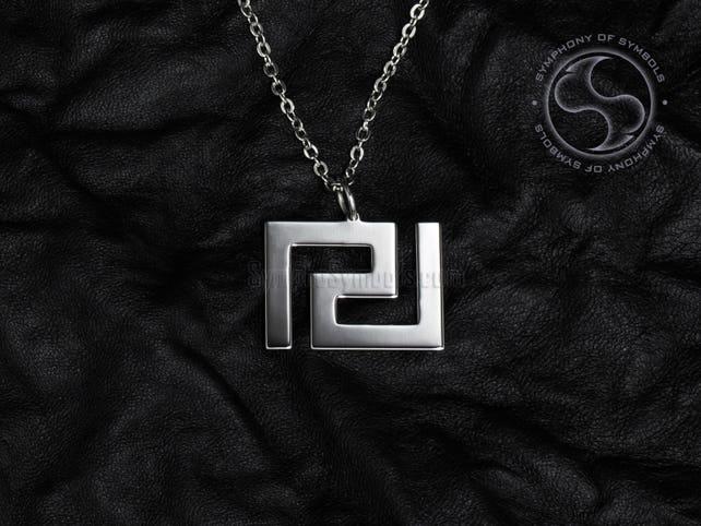 Meander Pendant Greek Symbol Stainless Steel Jewelry Greek Key Etsy