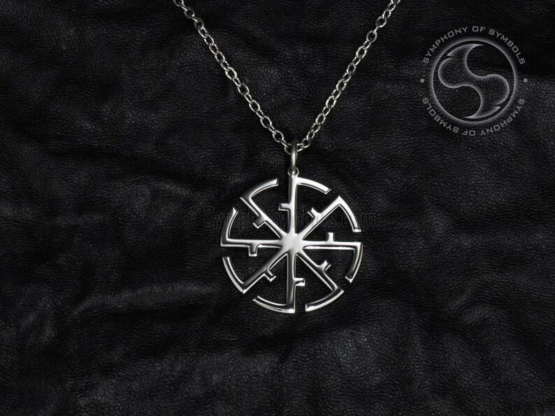 8b93dbca4e Svitovit wisiorek słowiański Symbol ze stali nierdzewnej