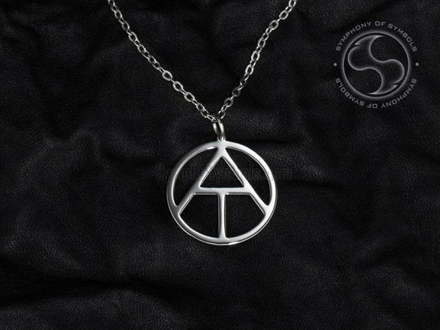 Atheism Symbol Pendant Stainless Steel Jewelry Atheist Etsy