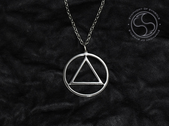 Alcoholics Anonymous Symbol Pendant Recovery Necklace Aa Unity Etsy