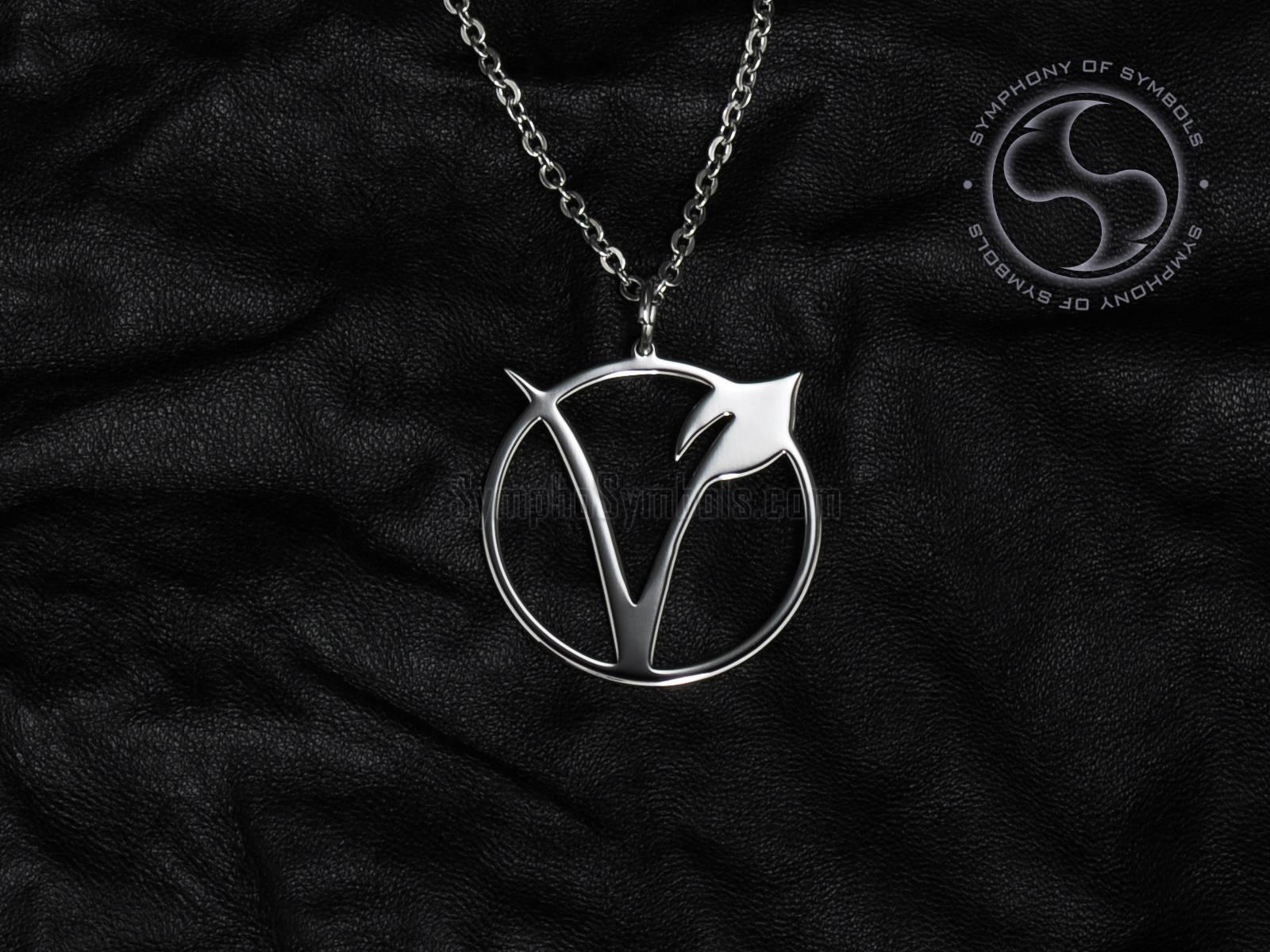 Vegetarian Symbol Pendant Stainless Steel Jewelry Vegan Etsy