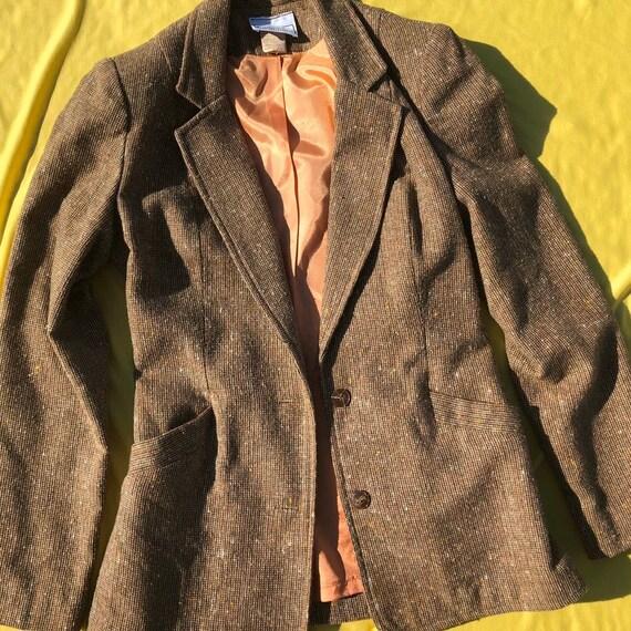 1960/70 Campus Casuals Women's Brown Suit Set. Siz