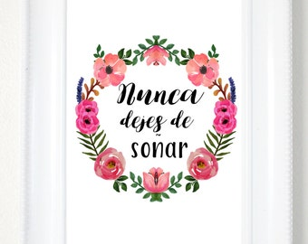 Buenos Dias Spanish Print Quote Good Morning Spanish Quote Etsy