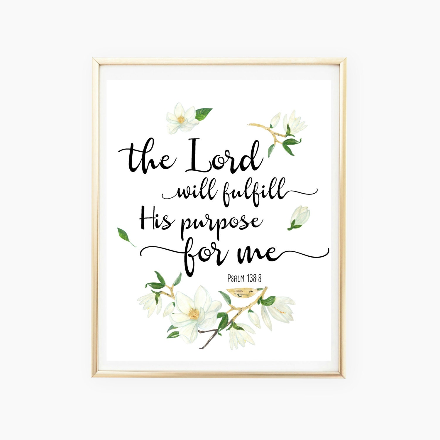 Bible Print Verse Psalm 1388 Printable Quote Bible Etsy