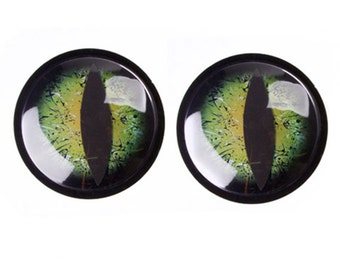 Dragon Eyes, 6 inch Pair with Adhesive