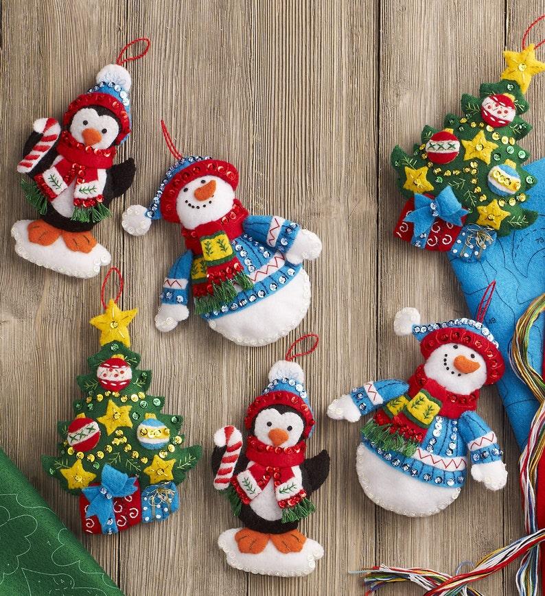 You Choose! Bucilla Felt Ornaments Applique Kit