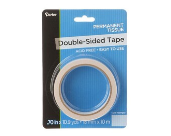 Double Sided Tissue Tape, .70in  x 32.7ft, Acid Free