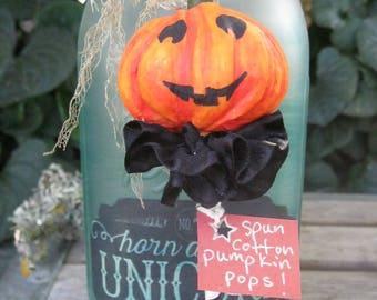 Vintage Halloween Jack o' Lantern - Spun Cotton Ornament