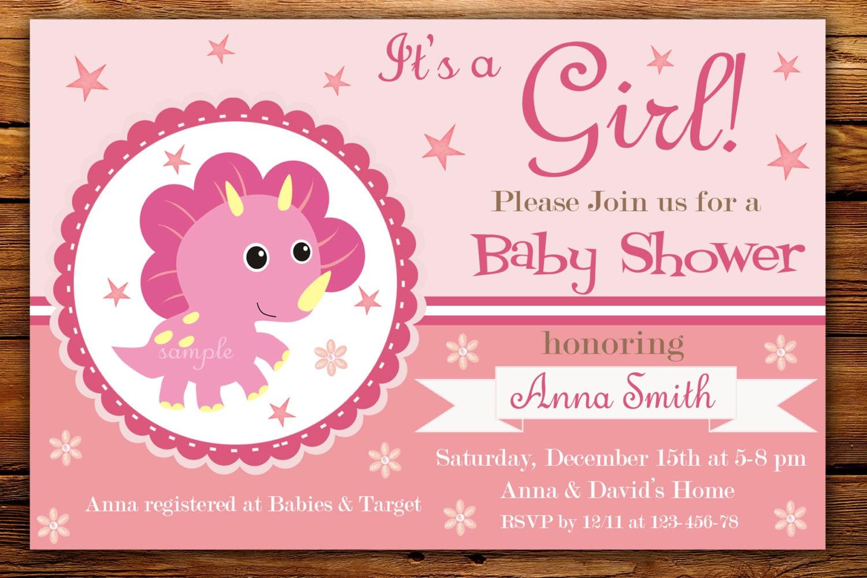 Dino bebé ducha invitación dinosaurio bebé ducha invitación