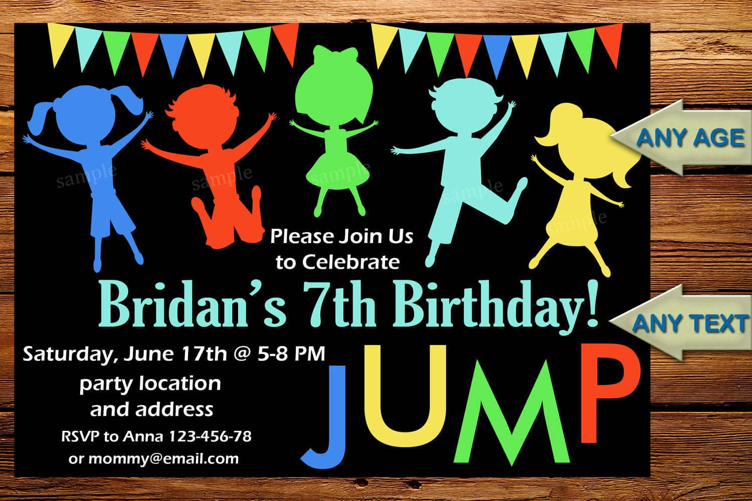 Sale Jump Invitation Birthday Party