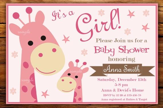 Safari baby shower invitation giraffe baby shower etsy image 0 filmwisefo