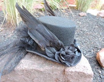 Custom made to order wing hat top hat