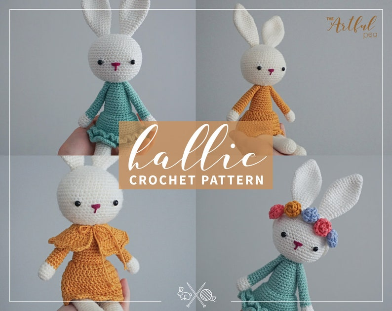 Amigurumi DIY Crochet Rabbit Pattern PDF  Hallie the Bunny image 0