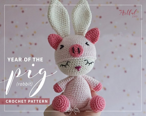 Sweet bunny amigurumi in dress pattern | Amiguroom Toys | 452x570
