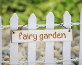 Little Fairy Garden Hanging Sign, Fairy Garden Sign,  Fairy Garden by Jennifer, Small Hanging Sign, Fairy Garden Accessory, Accessories
