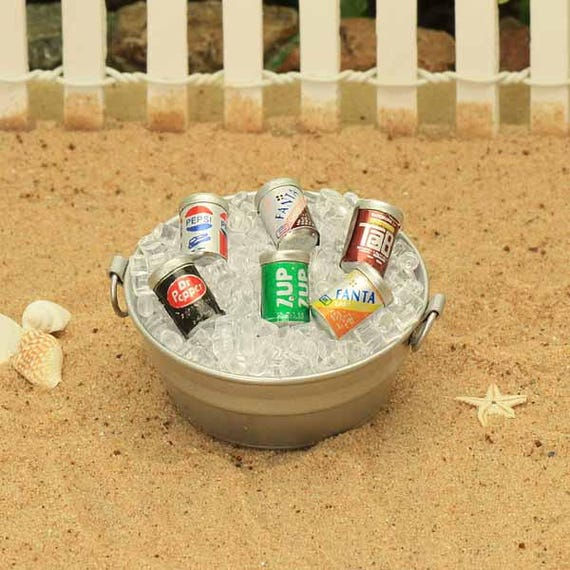 Miniature Dollhouse FAIRY GARDEN Accessories ~ Mini Soda Ice Bucket Tub ~ NEW