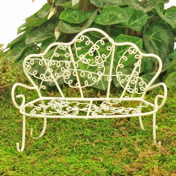 Astounding Wire Garden Bench Miniature Bench Fairy Garden Accessory Miniature Garden Fairy Garden Furniture Fairy Bench Bralicious Painted Fabric Chair Ideas Braliciousco