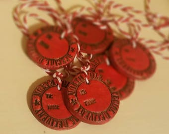Clay Christmas Gift Tags, North Pole Special Delivery