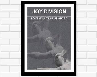 Joy Division Poster - band poster - music poster - concert poster - album art - music gift - music print - wall art - home decor