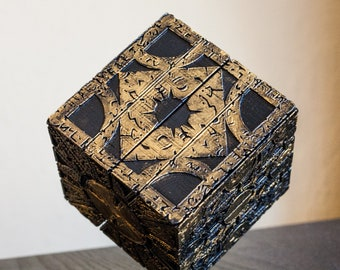 3D Printed HELLRAISER box Lemarchand's Puzzle box Lament Configuration prop replica cenobite hell Pinhead Clive Barker mystery box cosplay