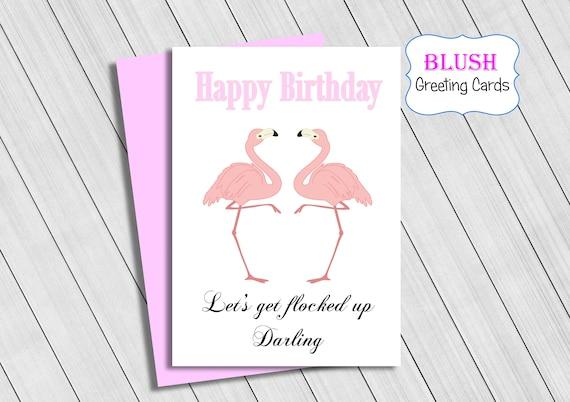 Friend Pink Flamingo 10th Birthday Card Grandaughter Daughter Girls