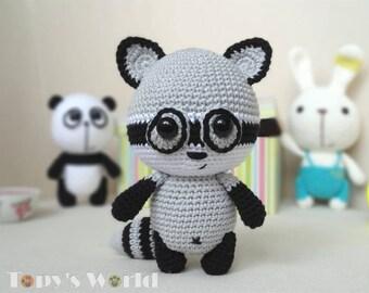 Rony Raccoon - crochet pattern