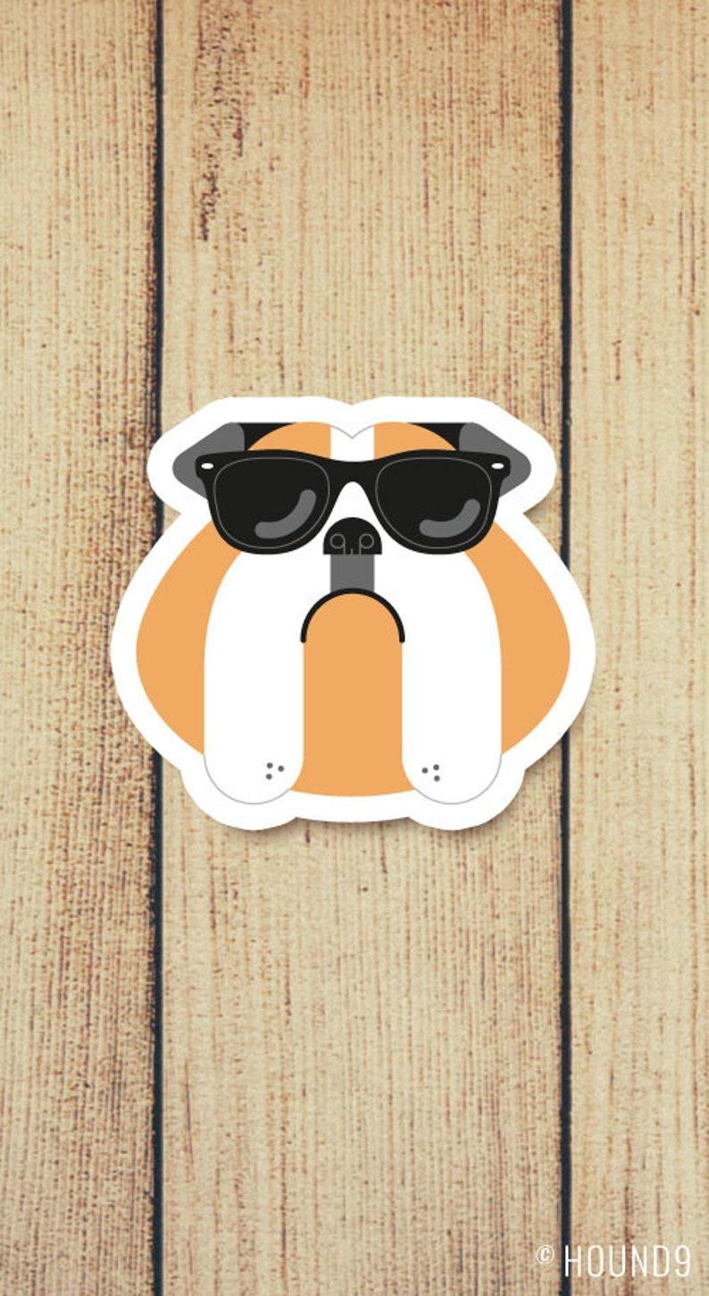 En Bulldog SolEtsy Gafas Etiqueta De Vinilo 8n0vwmN