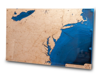 Lake Erie Wood Map Etsy