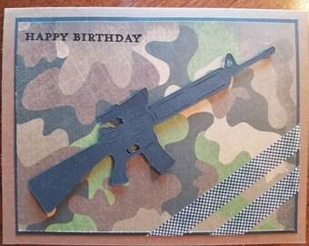 Army Birthday Card Etsy