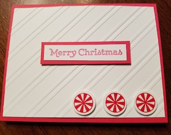 10 Pack Peppermint Christmas Cards