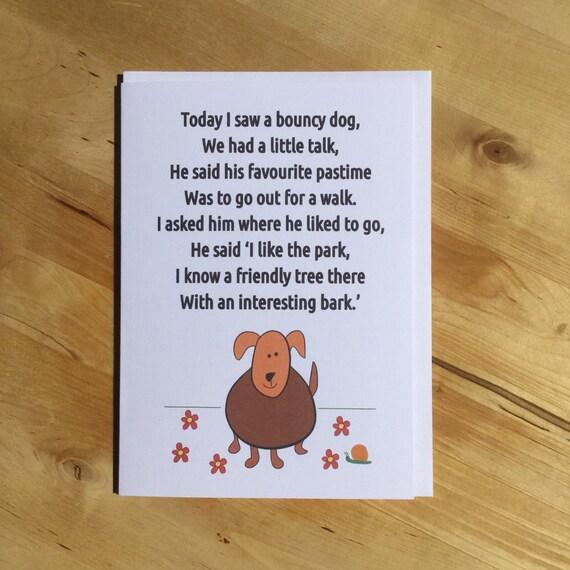 Hond Gedicht Kaart Grappige Vriendschap Kaart