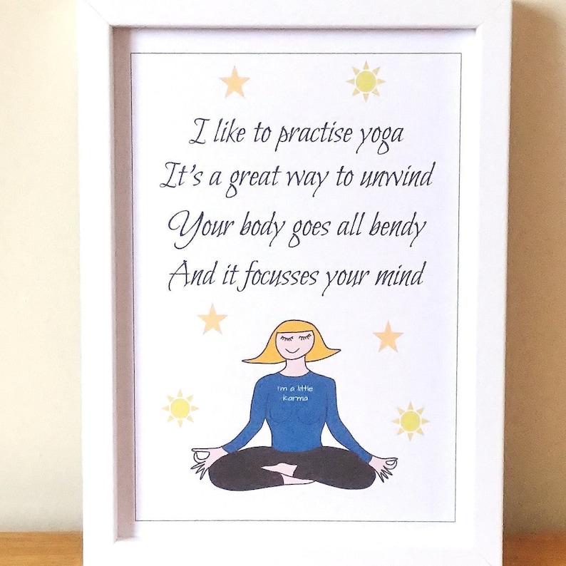 Lustige Yoga Gedicht Druck Geburtstagsgeschenk Etsy