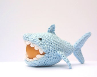 Crochet Shark Egg Cozy, PDF Pattern, Instant Download, Crochet Instructions