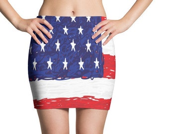 2ce11ea19 USA flag Mini Skirt, american flag mini skirt, 4th of July mini skirt, red  white and blue mini skirt clothes, Independence day mini skirt