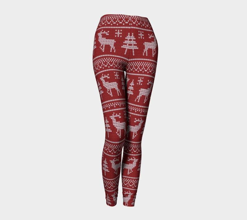 7f13f11dfd8603 Classic Reindeer leggings Christmas leggings Ugly Sweater | Etsy
