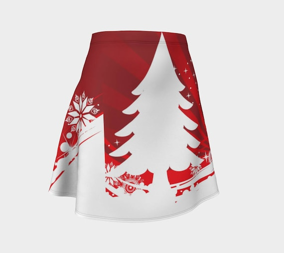 216a08378a069 Red and White Christmas tree skirt cool Christmas skirt | Etsy