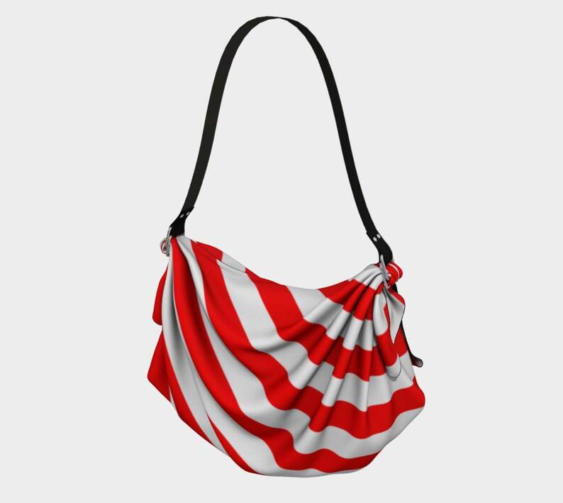 Mainz Carnival origami tote bag Carnival bag Red and white striped tote bag Red and white striped carnival purse Red and white str...
