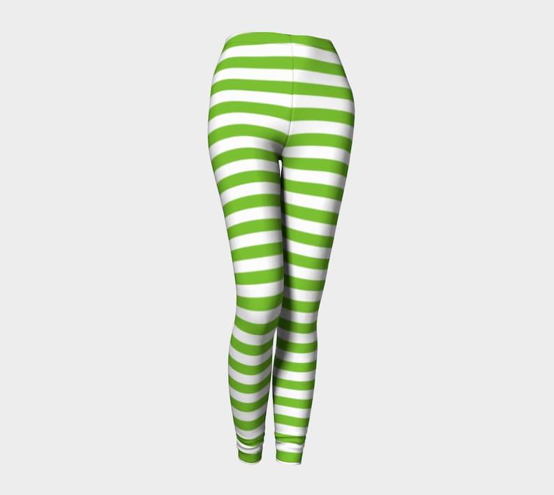 2eb20f059b8a9 St patricks day leggings Christmas leggings striped | Etsy