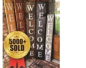 WELCOME SIGN, welcome sign for front door, vertical wood welcome sign, RUSTIC welcome sign, porch welcome sign, welcome, vertical sign