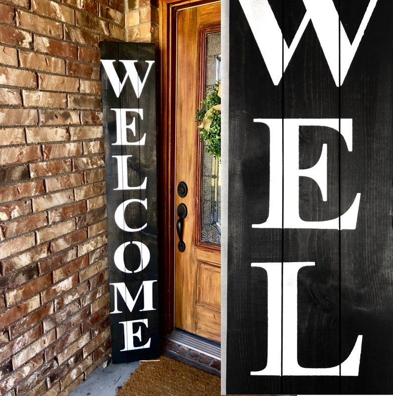 6 Foot Tall Welcome Sign Welcome Sign For Front Door Vertical Wood Welcome Sign Porch Welcome Sign Welcome Vertical Sign