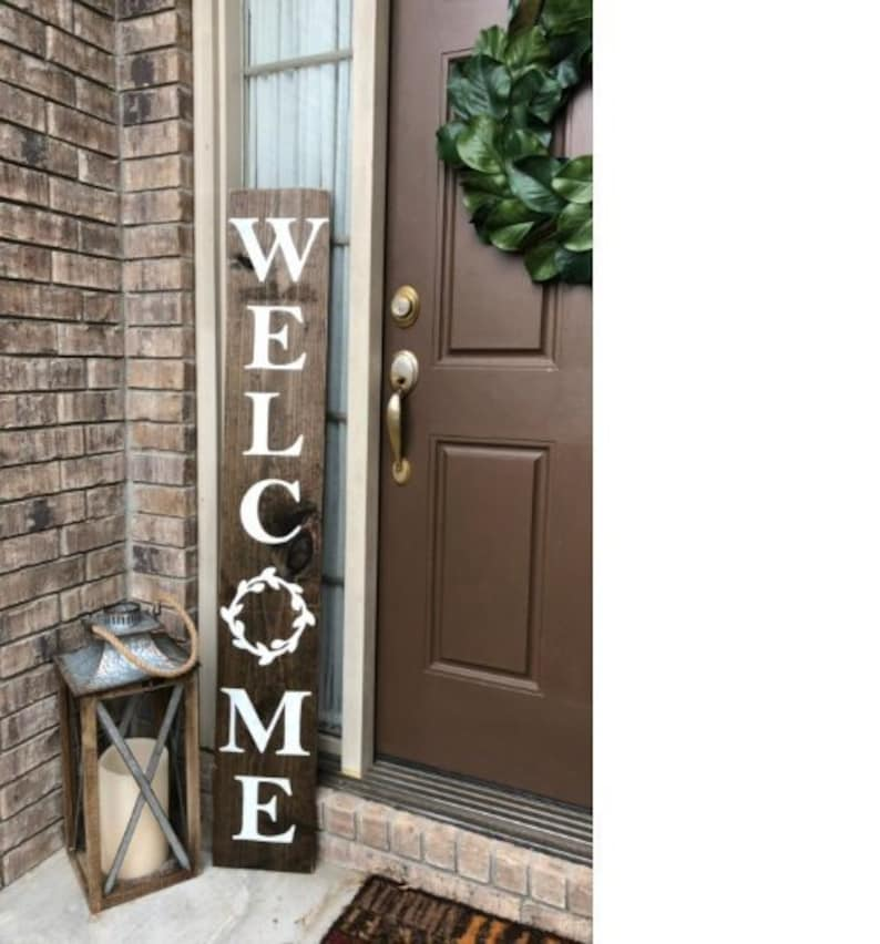 WELCOME SIGN welcome sign for front porch vertical welcome image 0