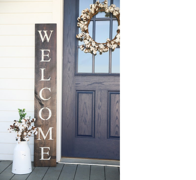 WELCOME SIGN welcome sign for front door rustic welcome image 0